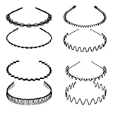 8 PCS Metal Hair Hoop, Flexible ...
