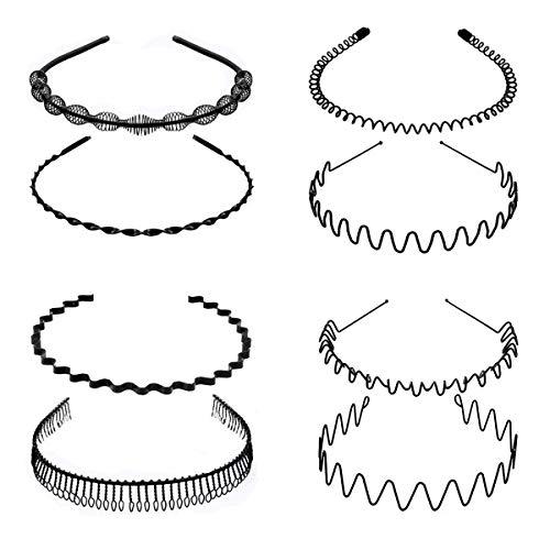 8 PCS Metal Hair Hoop, Flexible ...