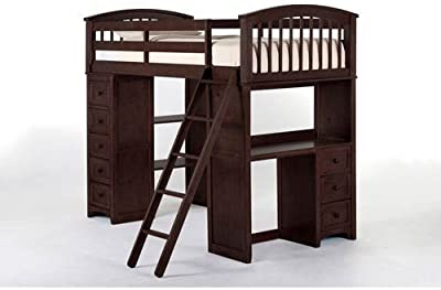 Amazon Com Dhp Abode Full Size Loft Bed Metal Frame With Desk And