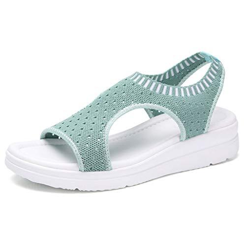 Luckycat Sandalias Mujer Verano, Mujeres Zapatos al Aire Libre Plataforma Sandalias cuñas de Tacones Altos Sandalias Hebilla Zapatos de Playa Bohemia Zapatillas de Talla Grande 35-45 EU