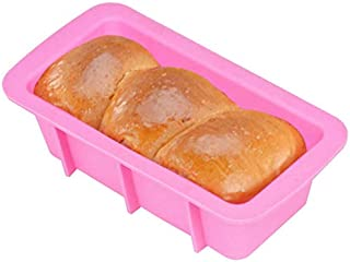 Cookie sheet Rectangular Toast Bread Mold Silicone Cake Baking Utensils (Color : Pink)