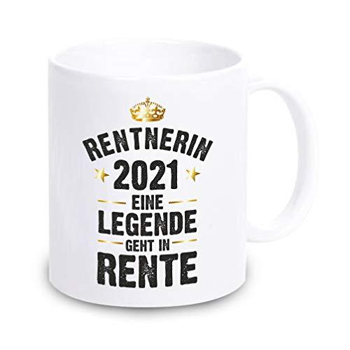 4youDesign weiße Tasse • Rentner/Rentnerin 2021 - Eine Legende geht in Rente • Rente Ruhestand Pension Renteneintritt Geschenk Mutter Vater Oma Opa Mann Frau