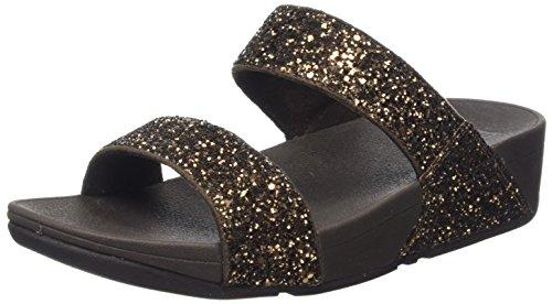 FitFlop Glitterball Slide, Sandalias con Plataforma Mujer, Talla única