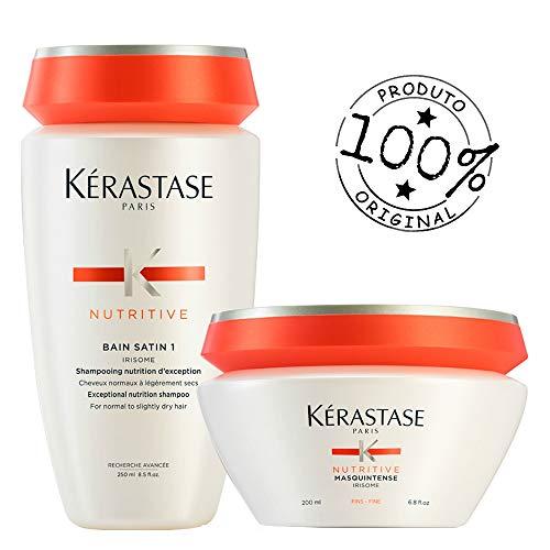 Kit Kérastase Nutritive Shampoo Bain Satin 1 + Masquintense Finos