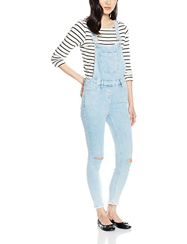 New Look Damen Kleid Bleach Dungaree,Blau (Light Blue),Gr. 36 (Herstellergröße: 8)