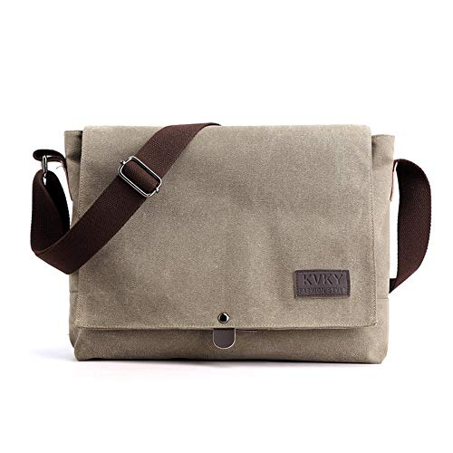 CVBGH Bolso de mensajero retro de los hombres bolso de mensajero bolsa de lona bolso de hombro casual maletín mochila