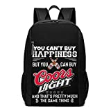 Lawenp Non puoi Comprare la Felicità, ma puoi Acquistare Coors Light Backpack Borse per Laptop da 17 Pollici Zaino per Scuola Universitaria Zaino Casual per Viaggi