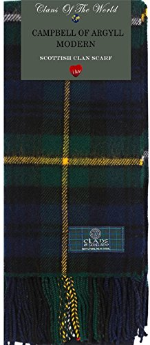 I Luv Ltd Campbell of Argyll Modern Tartan Clan Scarf 100% Soft Lambswool