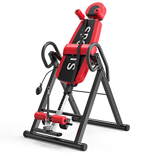 Review LCJ Heavy Duty Inversion Table with Headrest & Adjustable Protective Belt Back Stretcher Mach...