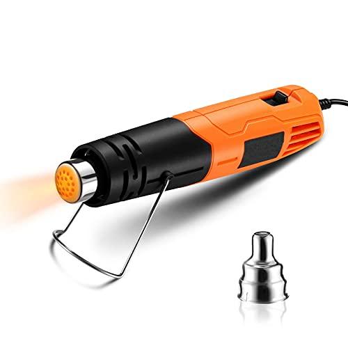 Heißluftpistole 550W elektrische Mini Heißluftfön, 2 Temperaturregelung von 300℃ bis 500℃, Maximal Luftstrom bis 200L/min, Heißluftgebläse für Embossing, DIY usw.