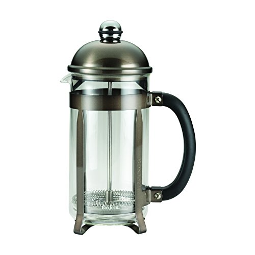 BonJour 8-Cup/33.8-Oz German Borosilicate Glass French Press, 8 Cup, Truffle