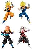 BANDAI Dragonball Super Set Completo 4 Figuras Versus Collection Battle Figure Series 14 Gashapon SS2 Goku Evil Vegeta