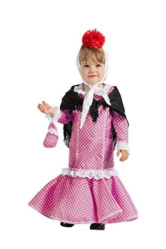 Disfraz de Madrileña Chulapa Rosa (1-2 años)