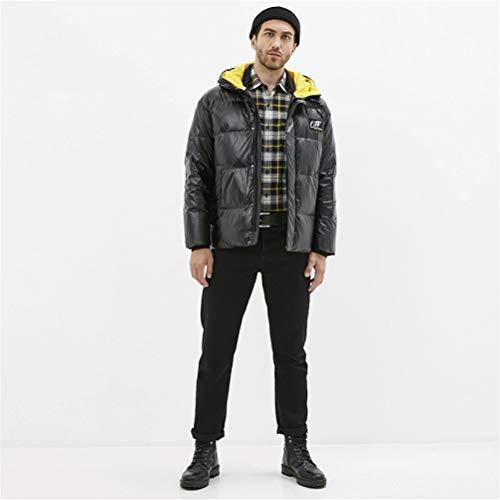 TBAO Neue Winter Herren Daunenjacke Modische Baumwollmantel Herrenbekleidung (Color : Black, Size : 50)