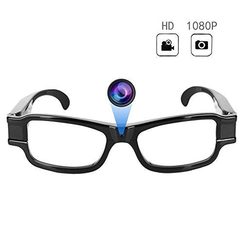 Gafas para cámaras de Video, 1920x1080P HD Spy Mini Cámara Oculta, Gafas DV Videocámara Función Criminal de grabación de Audio para Ciclismo, Caza, Pesca, policía, Viajes