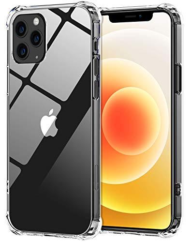 Babacom Coque Compatible avec iPhone 12 et 12 Pro, Etui Antichoc avec Coussin d'Air, Housse Fin avec Panneau Arrière PC Dur + Cadre en TPU Souple Compatible avec iPhone 12 et 12 Pro (2020) 6,1 Pouces