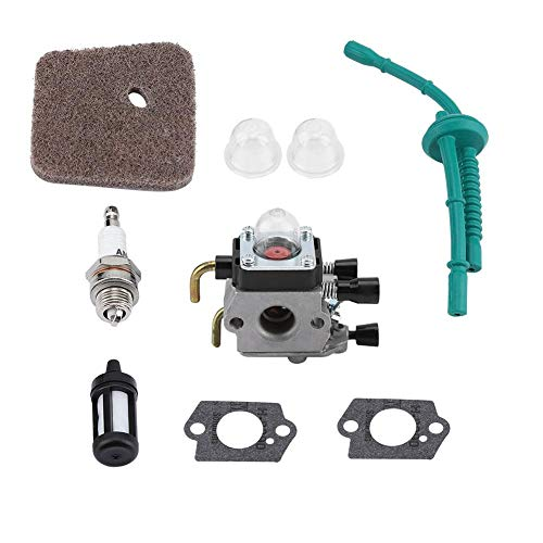 Juego de Carburador para Filtro de Aire STIHL FS55 FS55R FS55RC FS38 KM55 HL45 KM55R Kit de Controlador de Combustible Kit de Vela