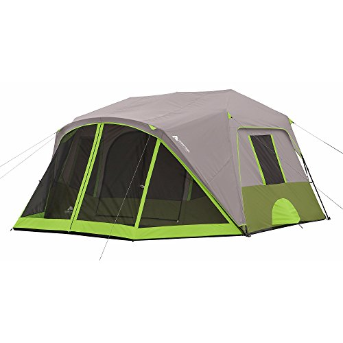 Ozark Trail 9-Person Instant Cabin Tent Camping Outdoors Family with Bonus Screen Room Green by OZARK