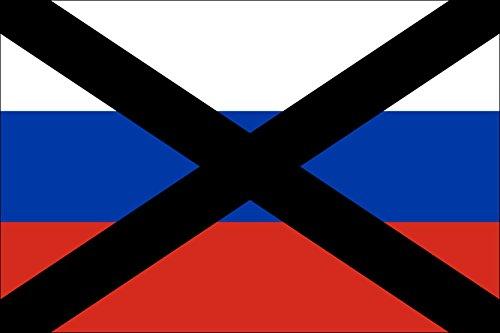 magFlags Flagge: Large Russie Non | Russe barré par UNE Croix Noire | Querformat Fahne | 1.35m² | 90x150cm » Fahne 100% Made in Germany