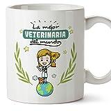 MUGFFINS Taza Veterinaria (Mejor del Mundo) - Regalos Originales y Divertidos de Veterinaria