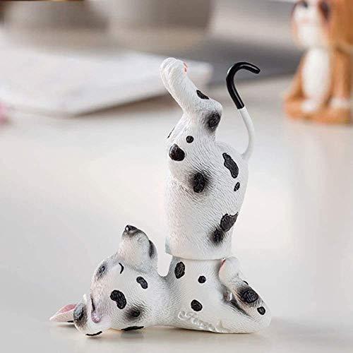 LGR Figurines Nodding Dog Car Interior Ornaments Accessories Yoga Pose Shakes Head Dog Decorations Dashboard Car Desk Bedroom Table Home Decor Resin Puppy Toys