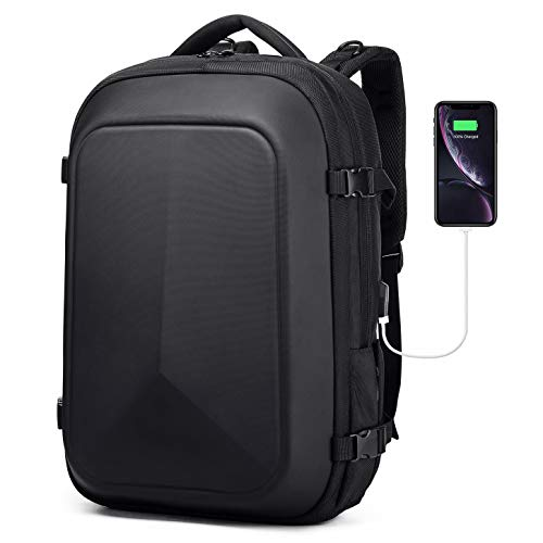 Careteilly Motorcycle Backpack For Men -Water-Proof Hard Shell Backpack For Travel,Camping,Riding,Cycling-Large shockproof Laptop Backpacks Fit for 17 inch with USB charging port