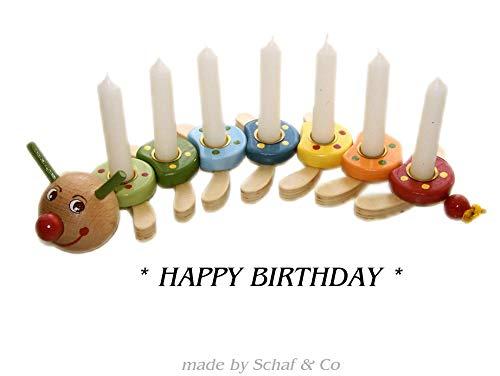 Geburtstagskranz,Geburtstagsraupe aus Holz,Geburtstagsring
