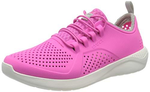 Crocs Unisex-Kinder LiteRide Pacer Freizeit Turnschuhe und Sportbekleidung, Electric Pink/White, 33 EU