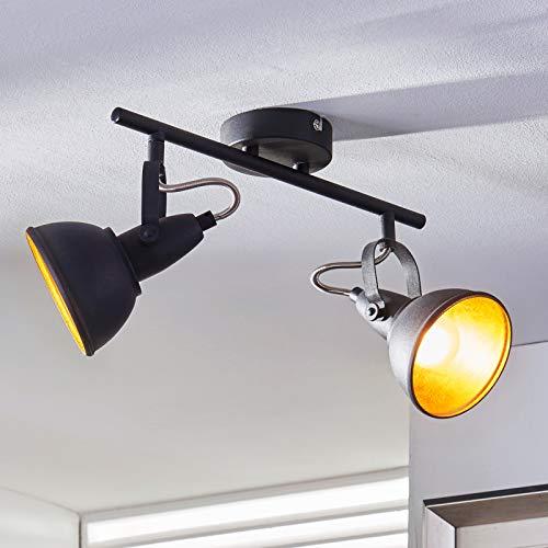 Lindby Strahler 'Julin' dimmbar (Modern) in Schwarz aus Metall u.a. für Wohnzimmer & Esszimmer (2 flammig, E14, A++) - Deckenlampe, Deckenleuchte, Lampe, Spot, Wohnzimmerlampe