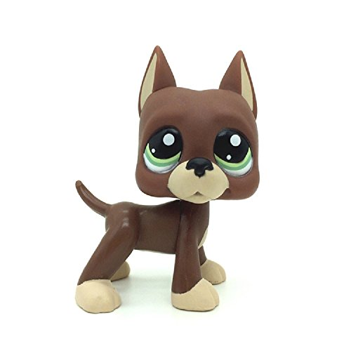 ZAD LPSs Loose Toys Brown Great Dane Puggy Dog Green Eyes #1519