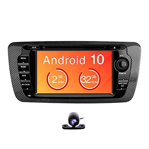 Freeauto Android 9.0 2GB RAM 32GB ROM Estéreo de Coche para Seat Ibiza 7' HD Multitáctil Pantalla Cabeza Unidad Radio Multimedia DVD Reproductor Soporta WiFi Bluetooth GPS Full RCA Salida Video 1080P
