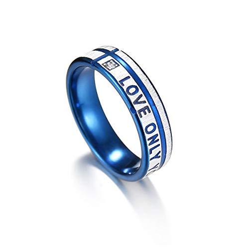 Seine Ihr Paar Ringe Lieben Nur Sie Strass Gravierter Versprechen Ring Passende Verlobungsbänder Valentinstag Edelstahl Ein Paar (Men-1PC, 9)