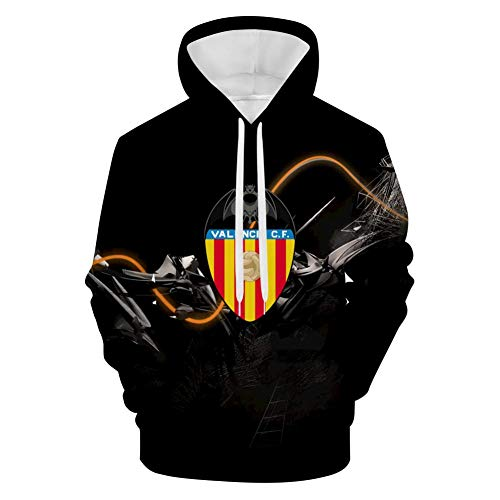 Sudadera clásica con capucha y bolsillo para hombre con logotipo del Club de Futbol de GOMEO Valencia Blanco blanco XL
