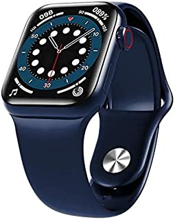 HW12 Android Smart Watch, 1.57inch Square Screen ,Heart rate monitoring ,Bluetooth HD Call (Blue)