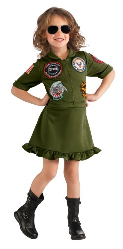 Girl's Top Gun, US Navy Flight Dress Costume