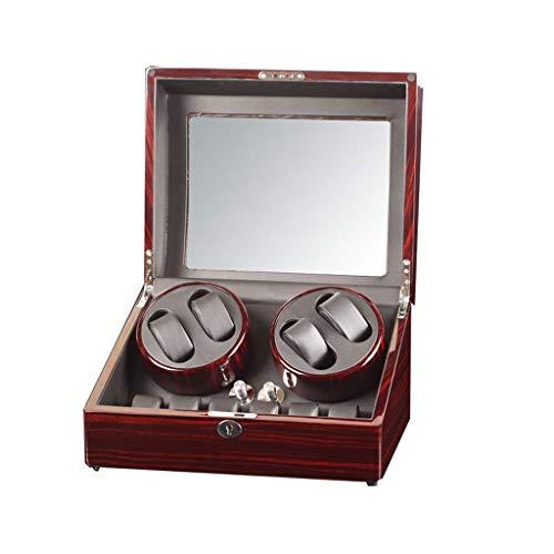 WXDP Enrollador de Reloj automático,Caja enrolladora de automática Rectangular, 5 Modos de rotación, 4 Posiciones de con Caja de presentación de almacenami