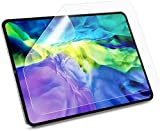 Designed for 2020 and 2018 versions of iPad Pro iPad Pro 11 inch PET Paper-feel screen protector designed for Apple pencil/ Stylus, feels just like you are writing on paper, offers paper-like touch, friction, and feel. The air-exhausting adhesive mak...