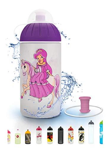 FreeWater Trinkflasche, 500 ml, Prinzessin: schadstofffrei, spülmaschinengeeignet, auslaufsicher, langlebig
