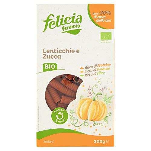 Felicia B3223Dd103 Sedanini di Lenticchia Gialla e Zucca Bio - 200 Gr