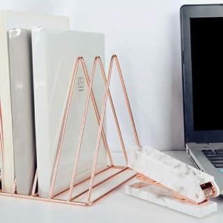 Contador galvanizado Organizador de escritorio Escritorio Sujetalibros Office Home book stand