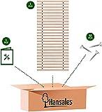 Hansales Rollrost 90x200cm - 300 kg 25 Leisten - Hochwertiger Extra starker Rolllattenrost aus echtem Birkenholz - FSC Lattenrost unbehandelt - Lattenrollrost 90x160 90x180 90x190 90x210 - 4