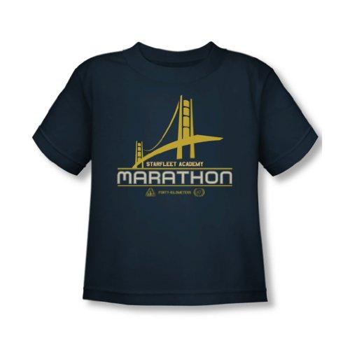 Star Trek - - Tout-petit logo Marathon T-shirt dans la Marine, 2T, Navy