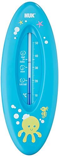 NUK Badethermometer für sicheres Baden, natürliche Messflüssigkeit aus Rapsöl, Made in Germany, 1 Stück, blau