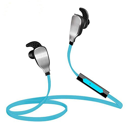 Bluetooth Headphones, Sound Intone H901 Wireless Stereo Sports Headset with Microphone, Sweatproof in-Ear Earbuds for Running Gym Exercise, Compatible with iPhone iPad Samsung and More (Blue)