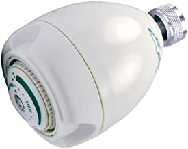 Earth Showerhead - Niagara Conservation | Energy & Water Saving Showerhead (1.25 GPM) High-Efficiency 3-Spray White Fixed Shower Head (N2912)