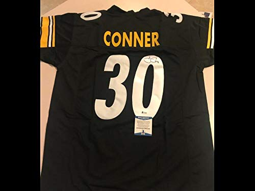 JAMES CONNOR STEELERS SIGNED AUTOGRAPHED BLACK CUSTOM XL JERSEY BECKETT