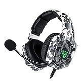 EWQK Auriculares Camuflaje Casque CASTQUE PC Gamer Gamer Auriculares de Juegos estéreo con micrófono...