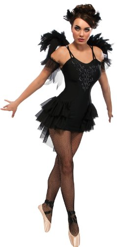 Rubies 's 880753 S Oficial Negro Cisne Ballet Halloween Costume Ladies Large
