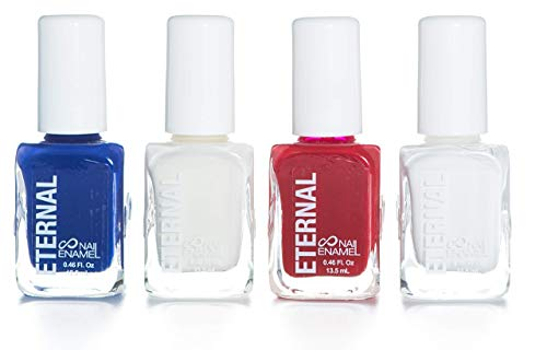 Eternal Glorious Collection – 4 Pieces Set: Long Lasting, Quick Dry Nail Polish (4th of July)