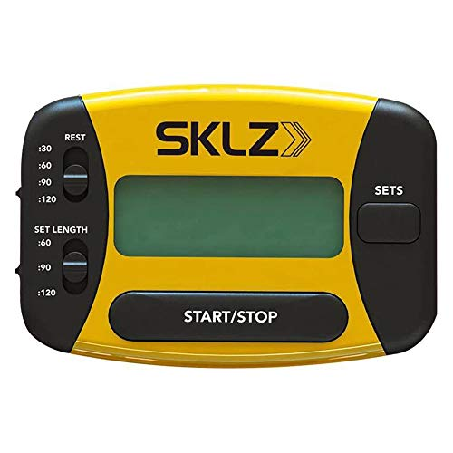 ZJY Sport-Intervalltrainings-Timer - Vibrationserinnerung Wiederholungsschleifen-Tastensperre mit Batterieplatz - Geeignet für Laufbox-Fitness und andere Übungen